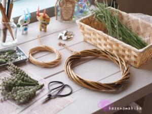 リース作りの道具たち