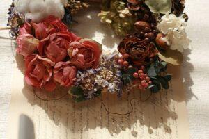色々な花のリース