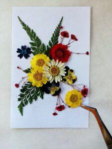 押し花アート作品