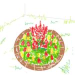 円形の花壇