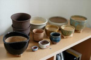 様々な盆栽用の鉢